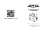 AlorAir CleanShield HEPA - Model 550 - Air Scrubbers - Manual