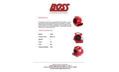 BOSS - Model F400 - Mini Blower Fan - Brochure