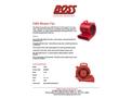 BOSS - Model F600 - 3-Speed Blower Fan, 120V - Brochure