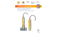 OCPF81/82 - Compact pH and ORP SENSORS with ¾ MNPT Housing for Flow and Immersion Installation - Technical Data Sheet