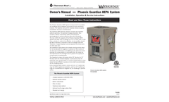 Phoenix - Model 1400 CFM - Guardian HEPA System - Manual
