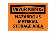 NMC - Warning Hazardous Material Storage Area Sign