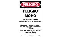 NMC - Model D995 - Danger Microbial Hazard Spanish Paper Sign