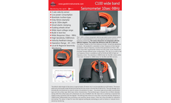 Geobit - Model C-100 (MK3 Version) - Wide Band Seismic Sensor Brochure