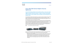 Cisco - Model ASA 5510 - Adaptive Security Appliance Brochure