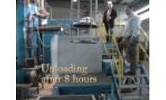 Thermal Cleaning Process of an assembled spin pack in a SCHWING InnovaClean Fluidized Bed System Video