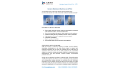 Ceramic Membrane Machine Lab & Pilot System Brochure