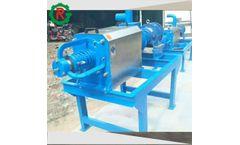 Cow dung dewatering screw press manure dewatering machine