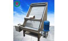 Screw press sludge dewatering chicken manure dewatering machine
