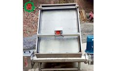 Poultry manure dewatering manure separator screw press machine