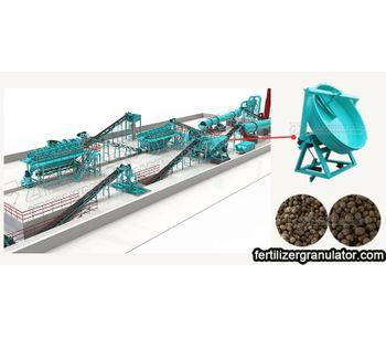 Small Scale Disc Granulator Organic Fertilizer Manufacturing Process