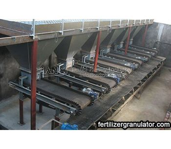 High efficient automatic batching system for organic fertilizer production line
