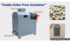Large range of raw material particle size matched by roller granulator