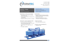 Stormtec SF800 Sandfilters - Brochure