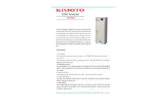 Kimoto - Model COD - Automatic Water Quality Analyzers Brochure