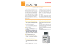 Kimoto - Model MOG-701 - Air and Marine Carbon Dioxide (CO2) Automatic Measuring Equipment Brochure