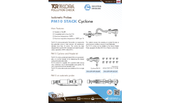TCR Tecora - Model PM10 - Stack Cyclone - Datasheet