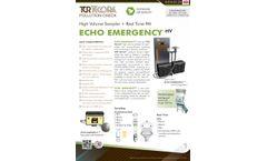 TCR Tecora ECHO EMERGENCY HV High Volume Sampler + Real Time PM - Datasheet