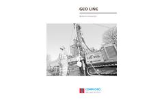 Comacchio - Model GEO 105 - Hydraulic Drilling Rigs Brochure