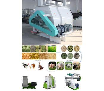 Poultry Feed Pellet Mixer Animal Feed Production Machinery