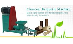 Charcoal Briquette Machine Can Make Environmental Protection Mechanism Charcoal