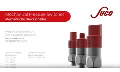 Mechanical Pressure Switches (Hex27) with integrated connector