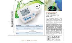 Hanna - Model HI 96831 - Ethylene and Propylene Glycol Analysis - Datasheet