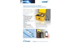 PrimeFlo - Model 3 - Ultrasonic Flowmeter Brochure