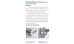 Wonzone - Model PU - Clean Room Sandwich Panel Brochure