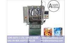 Calmus - Model ASP-BIBF101 - Semi-auto BiB Sterile Filler Equipment Bag in Box Aseptic Filling Machine