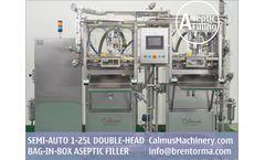 Calmus - Model ASP-BIBF102 - Semi-automatic BiB Filler Equipment Bag in Box Aseptic Filling Machine