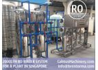 Calmus - Model BROCI-2TPH - 2000LPH Singapore Ordered Commercial RO Water Filtration System