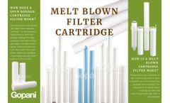 Customized Melt Blown Filter Cartridge at Gopani