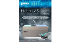 Hiden - Model LAS - Automated High Throughput Leak Analysis System - Datasheet