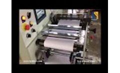 HC-320 Adhesive label slitting machine at ruian, China Video