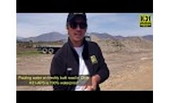 Water Test and Dust Control Test On K31 APS Stabilized Road in Chile Video
