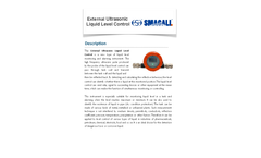 Smagall - Model HS-ULC - External Ultrasonic Liquid Level Control - Brochure