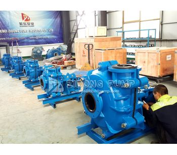 Corrosion resistant rubber liner slurry pump and polyurethane slurry pump finished to replace metal pump