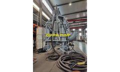 Newly finished 220kw submersible slurry pump with 4 agitators