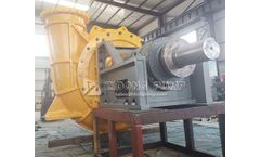 Zidong® Pump company new ZN600 sand dredging pump finished