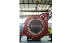Zidong® Pump company launched newly designed ZN600 CSD600 heavy duty dredging pump