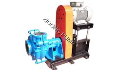 Corrosion resistant rubber liner slurry pump for coal washing, copper mine, gold mine dewatering