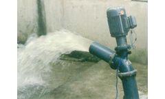 Large capacity vertical axial flow pump for sea water aquaculture