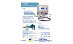 Kemtrak - Model DCP007 - NIR Industrial Photometer Brochure