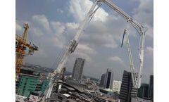 PB51AT-4R-E Hydraulic Concrete Placing Boom