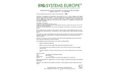Model EU 30 - Control of Filamentous Bacteria in Water Treatment Plants - Datasheet