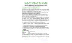 Model EU 20 - Hydrogen Sulphide Removal (H2S) - Datasheet