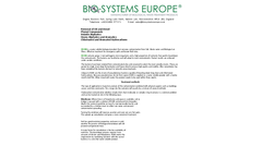 Model EU 80 - Water Soluble Biological Product - Datasheet
