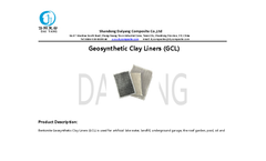 Daiyang - Geosynthetic Clay Liners (GCL) Brochure