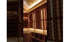 Wine storage room in a personal villa Video